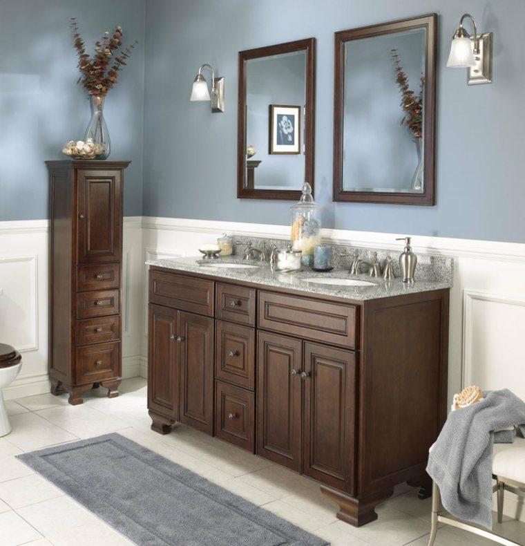 Armario Baño Vintage:Armarios de baño y muebles lavabo de madera – 50 ideas -