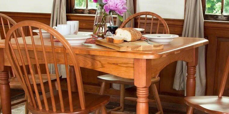 Mesas de comedor modernas de madera maciza 50 ideas for Muebles comedor madera