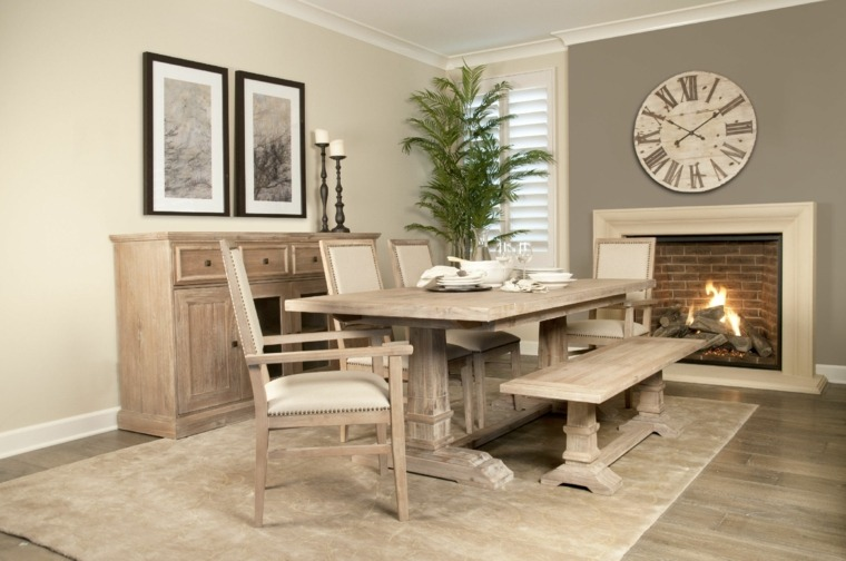 Mesas de comedor modernas de madera maciza 50 ideas for Comedores rusticos modernos