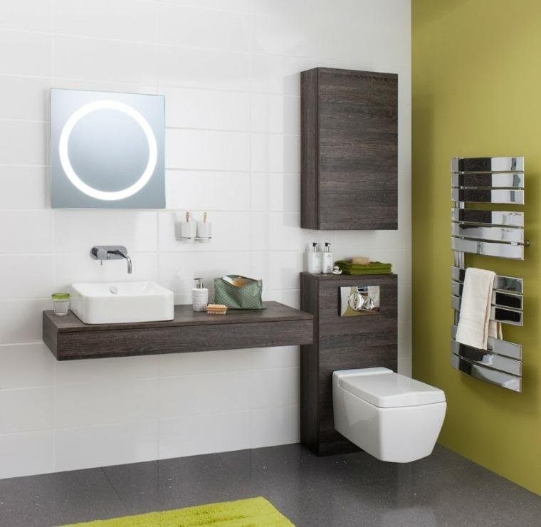 Armarios de ba o y muebles lavabo de madera 50 ideas - Armarios cuartos de bano ...
