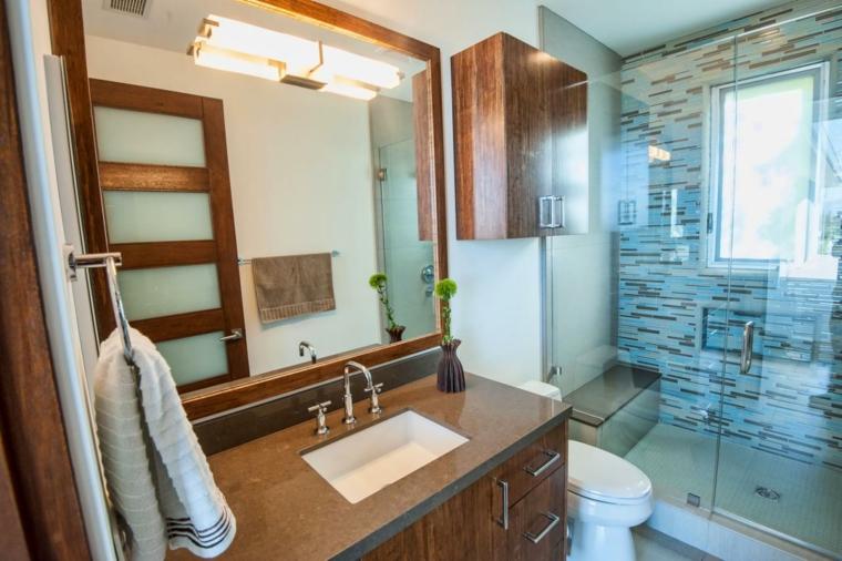 conjunto muebles baño madera laminada