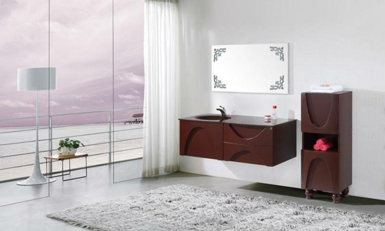 Armarios de ba o y muebles lavabo de madera 50 ideas - Fotos de muebles de bano modernos ...