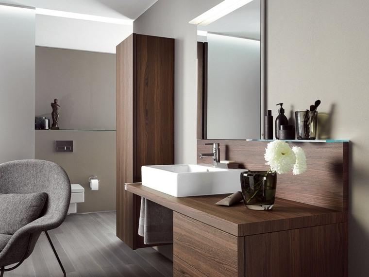 conjunto moderno madera laminada baño