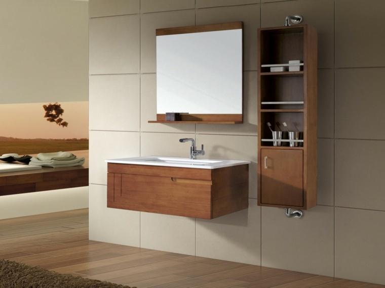 conjunto muebles baño laminado madera