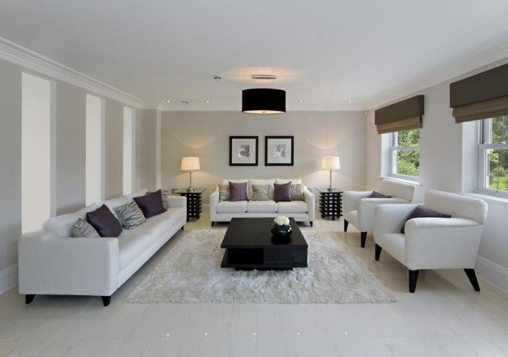 contemporaneo estilos sala luminosa blanca alfombras