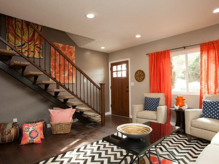 contrastes diseños variantes muebles informales cuadros