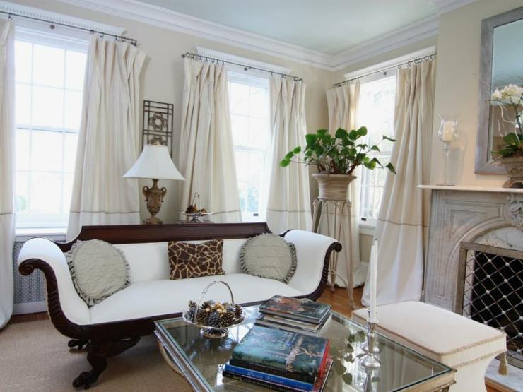 Cortinas para salon ideas para transformar cualquier - Modelos cortinas salon ...