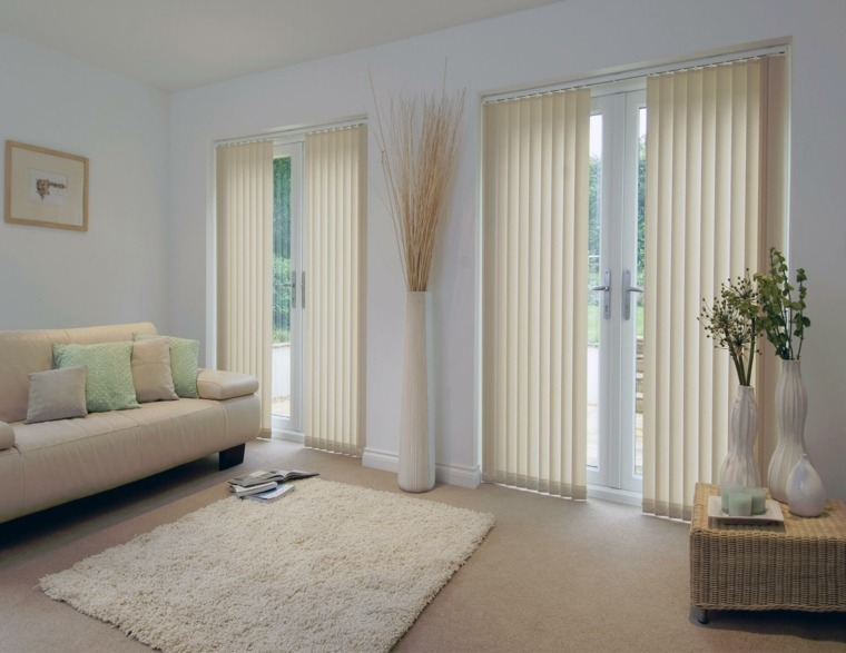 cortinas bandas color beige