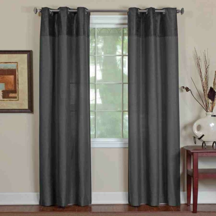 Decoracion cortinas salon los 50 dise os m s modernos for Cortinas grises modernas