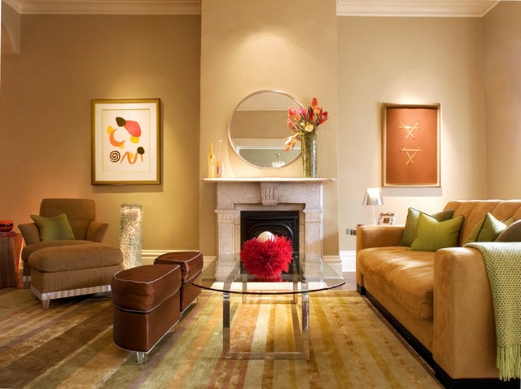 Cuadros para salon ideas para crear paredes diferentes for Espejo horizontal salon