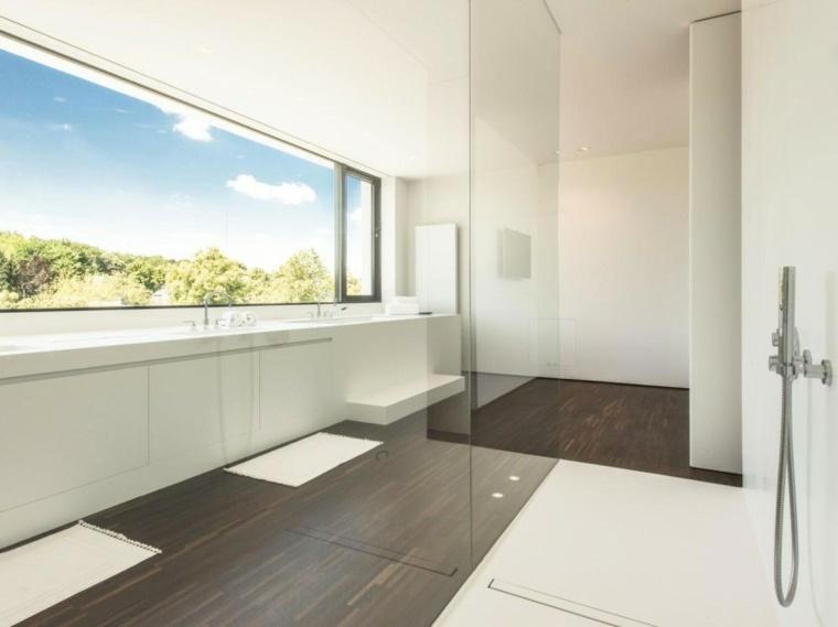 cuarto baño estilo blanci minimalista