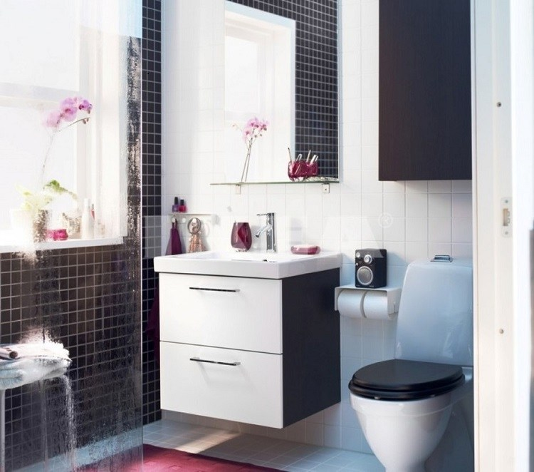 baño pequeño gresite moderno