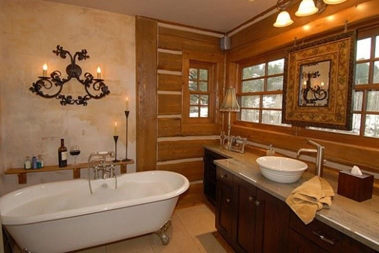 cuarto bao muebles rsticos original diseo muebles madera baos with lavabos rusticos para bao