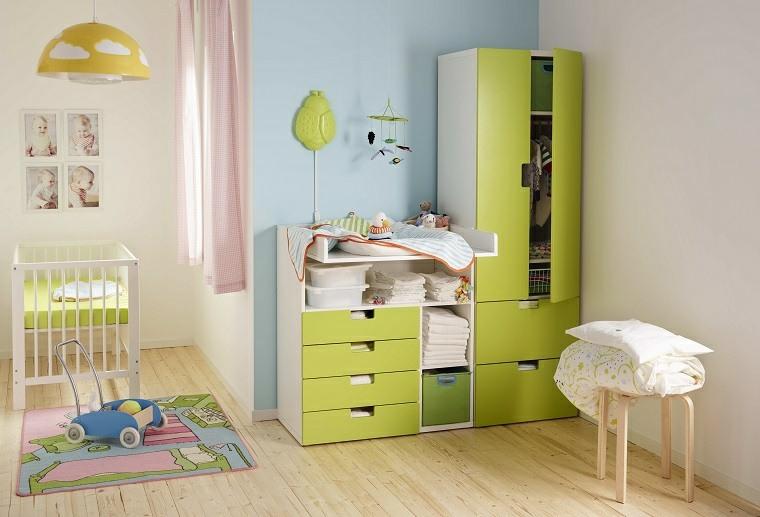 cunas para bebes preciosas armario verde ideas