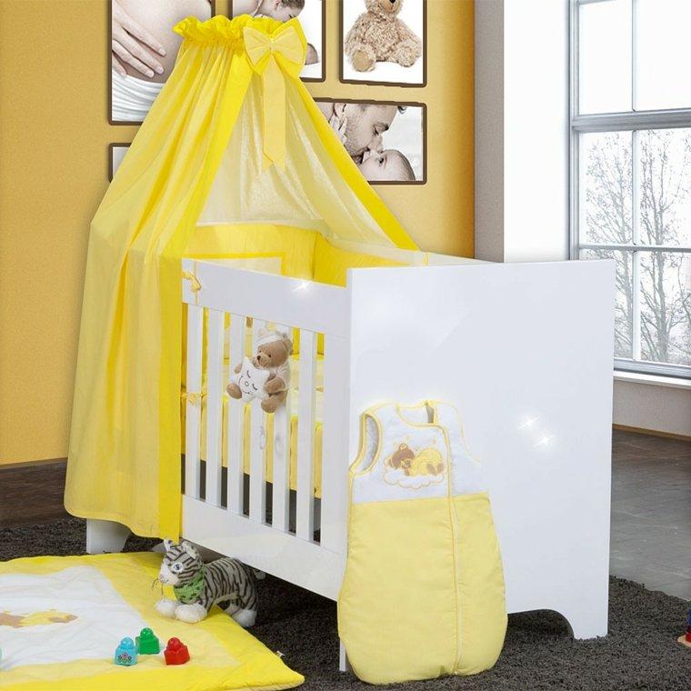 cunas para bebes preciosas color amarillo ideas