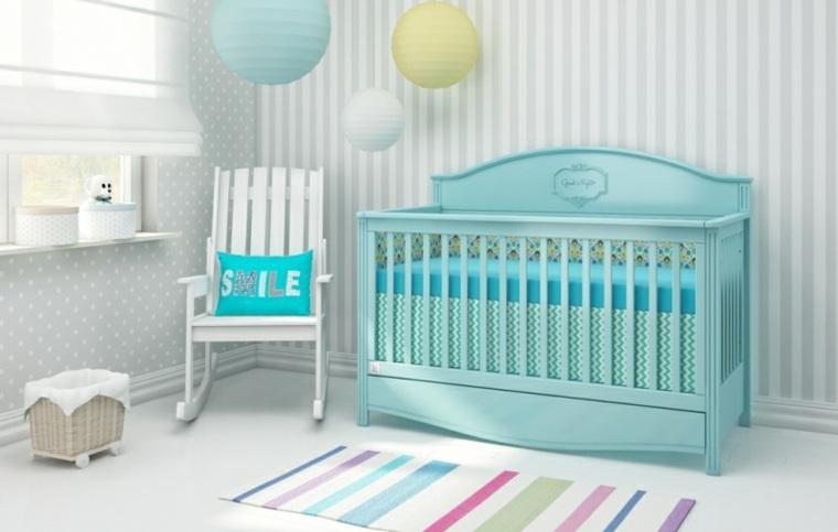 cunas bebes preciosas color verde azulado ideas