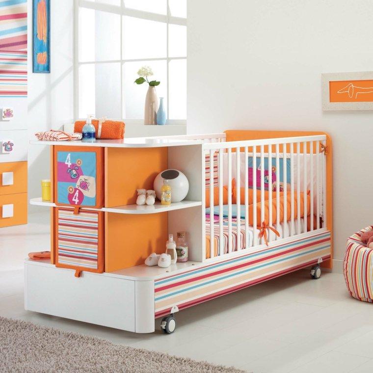 cunas para bebes preciosas colores vibrantes ideas