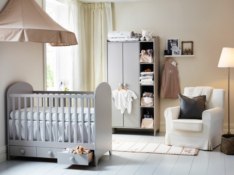 cunas bebe preciosas dosel pared ideas