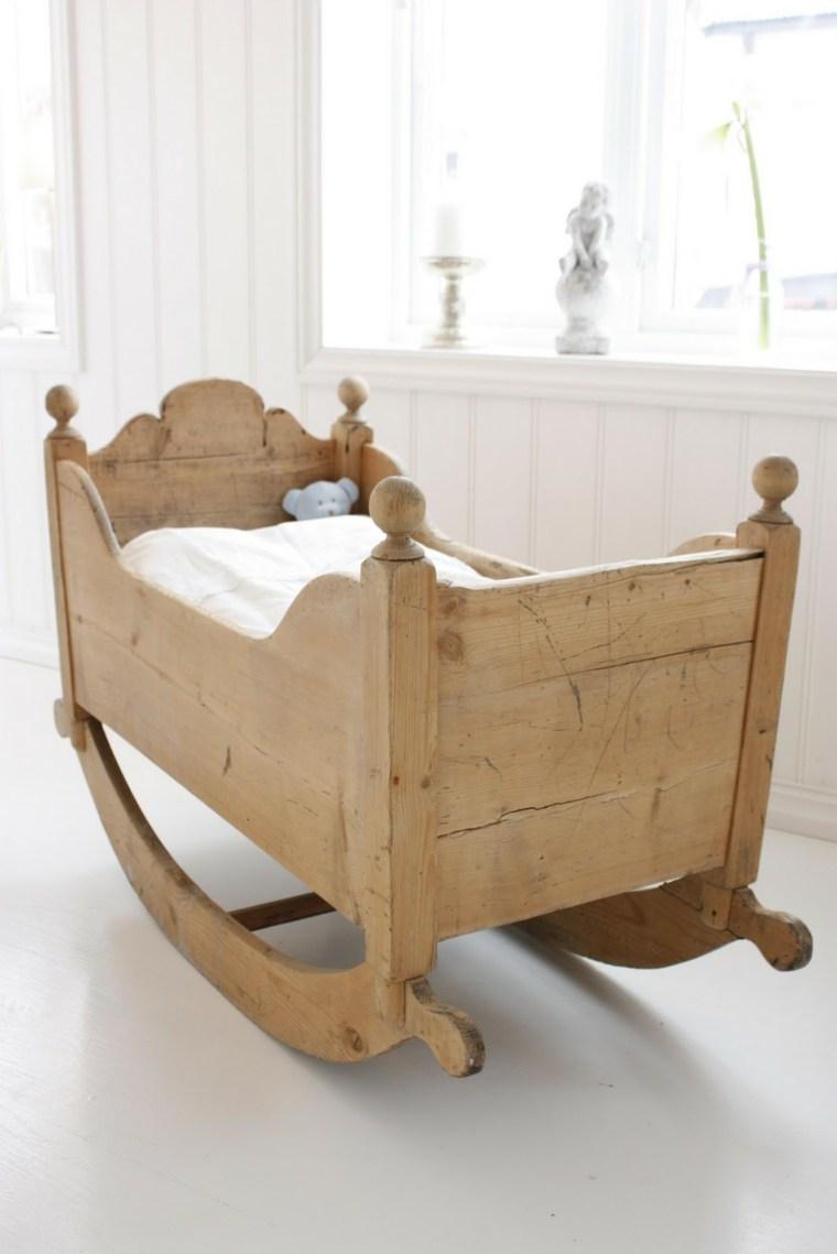 cunas bebe preciosas madera balanceante ideas