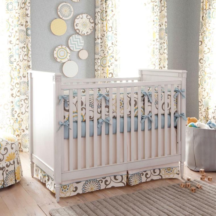 cunas bebe preciosas madera blanca ropa cama ideas