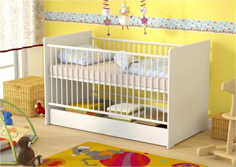 Cunas para bebes 75 opciones para el reci n nacido - Dibujos para habitaciones de bebe ...