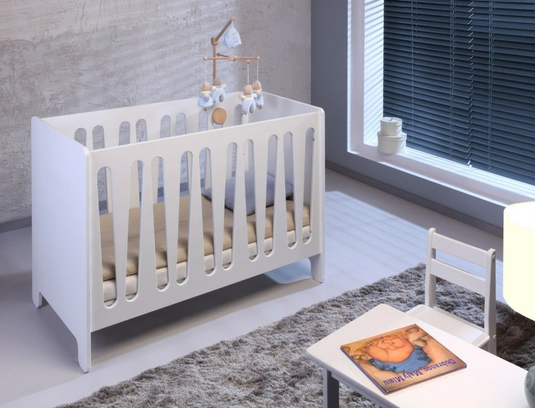 cunas bebe preciosas pared gris ideas