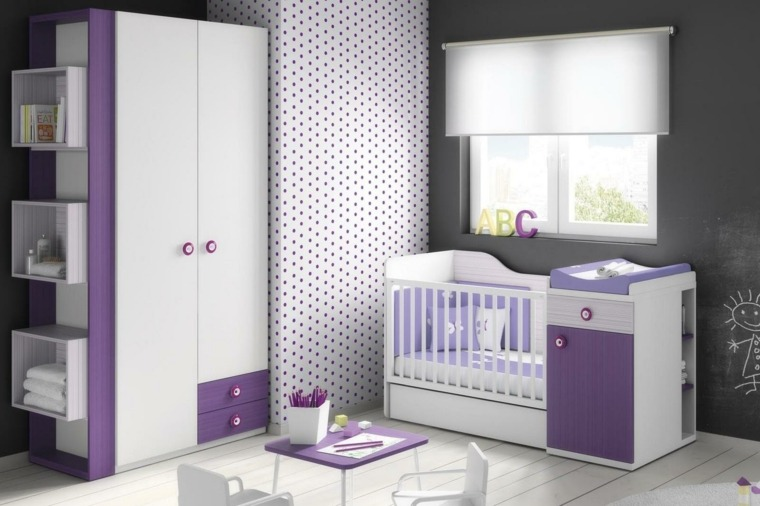 cunas bebe preciosas purpura blanco ideas