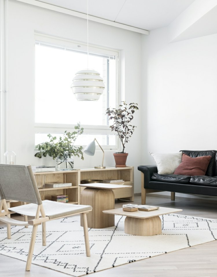decoración salon muebles madera