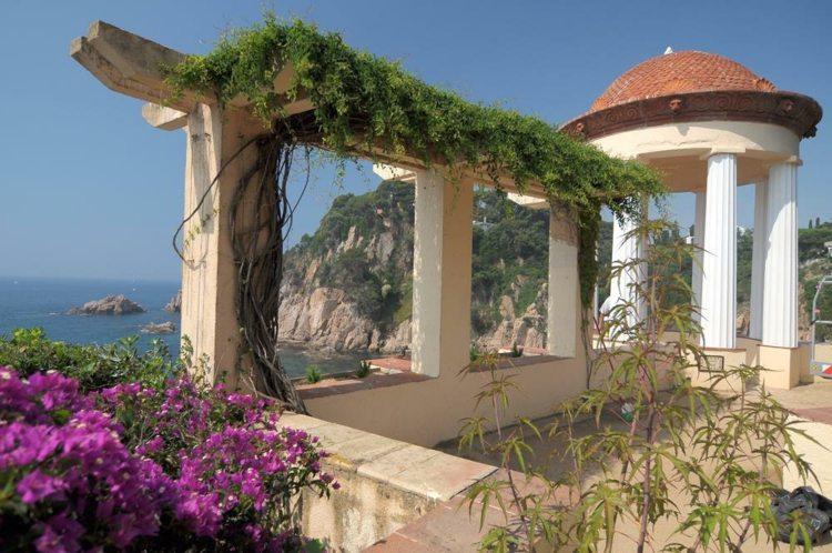 decoración terraza plantas naturales