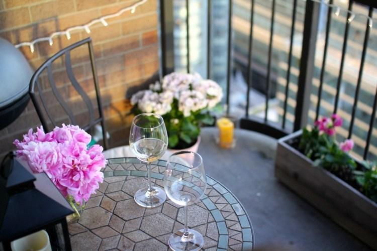 decoración de terrzza mesa copas