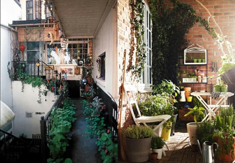decorar terrzas muchas plantas