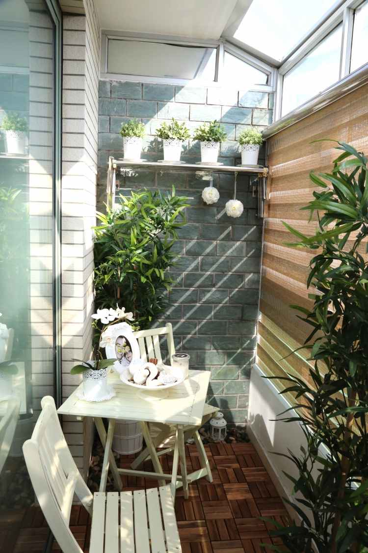 decoración terraza flores plantas