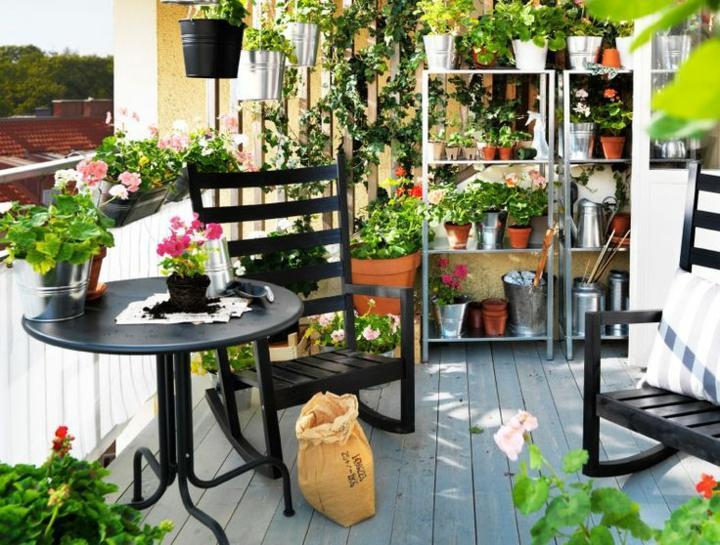 decoración terraza bonito disñio