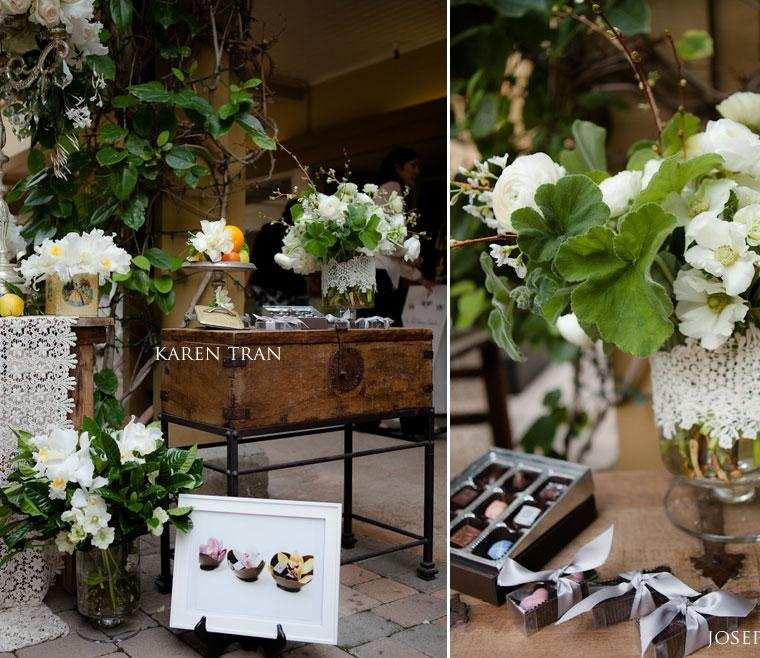 bonito diseño geranios magnolias
