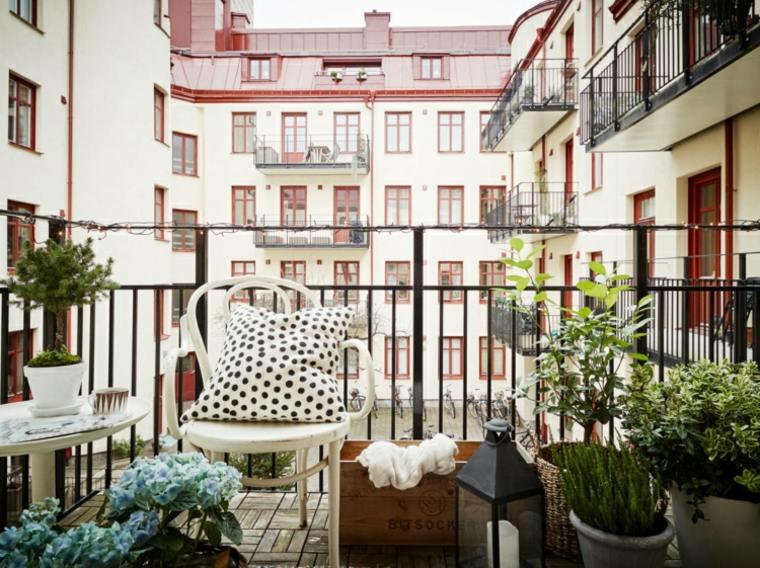 decoración moderna balcon terraza