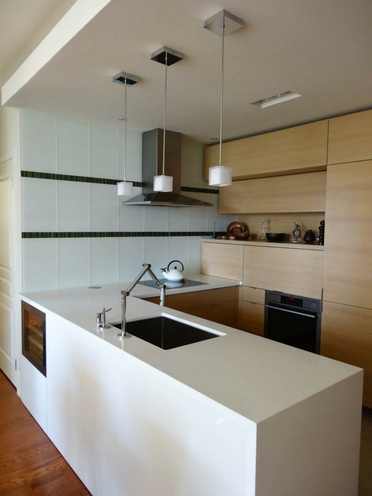 decoración de cocinas modernas blanco imagenes muebles