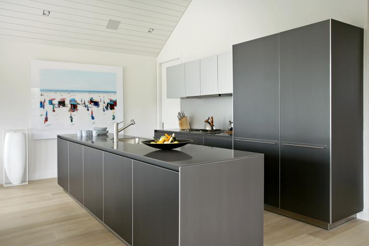 decoración de cocinas modernas cuadro paredes frutas
