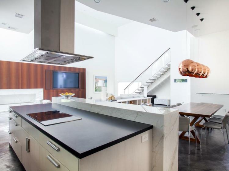 decoración de cocinas modernas dorados marmol