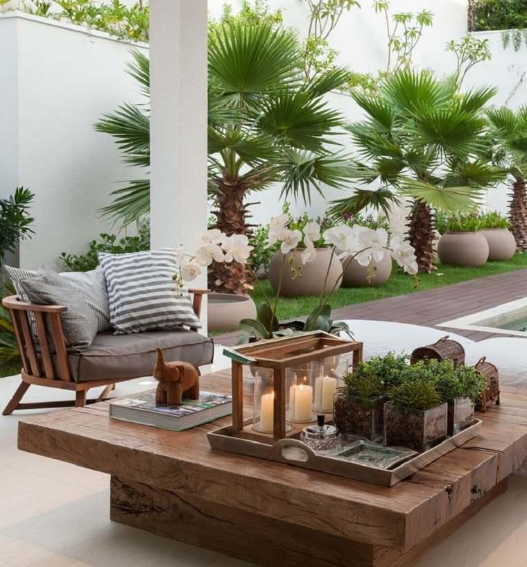 decoración terrazas muebles modernos