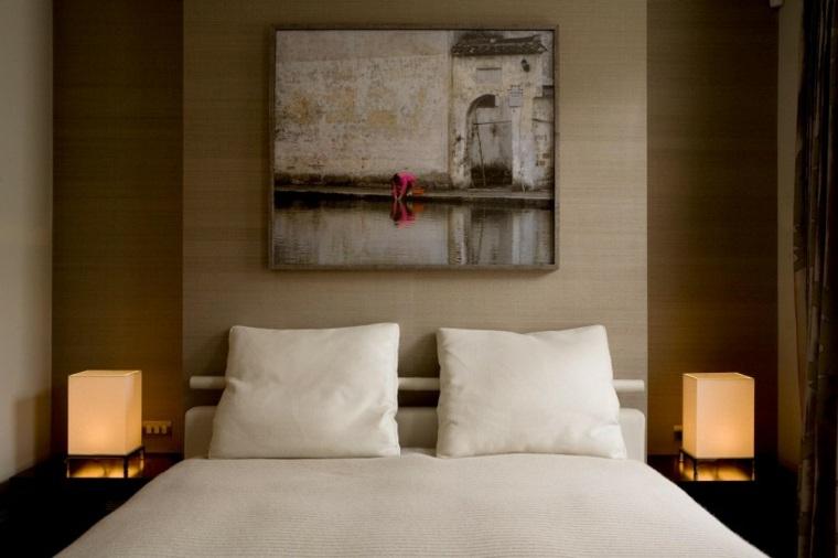 decoracion ambientes dormitorio cuadro lamparas ideas