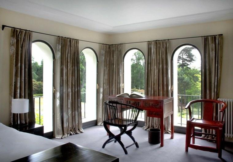 decoracion ambientes dormitorio escritorio cortinas ideas