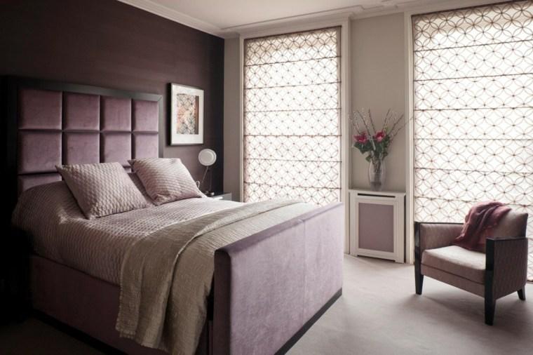 decoracion ambientes dormitorio estores estampas ideas