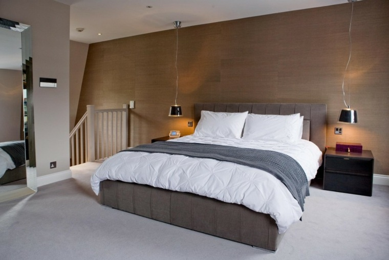 Decoracion ambientes 26 dormitorios elegantes - Lamparas de techo habitacion ...