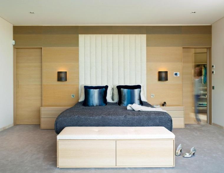 decoracion ambientes dormitorio mesas madera ideas