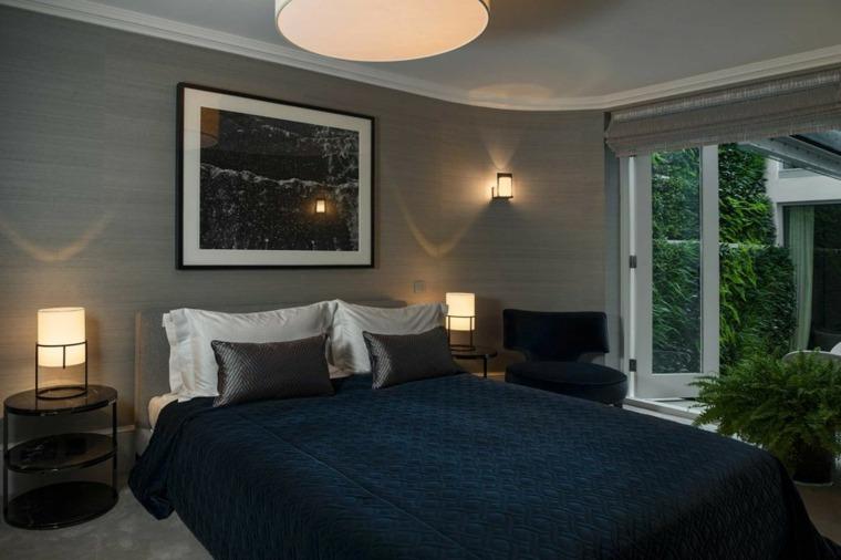 decoracion ambiente dormitorio mesitas noche modernas ideas