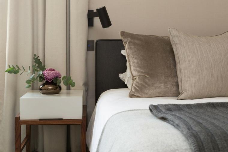 decoracion ambiente dormitorio mesitas plantas ideas