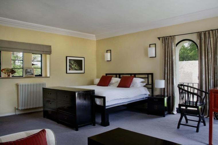decoracion ambiente dormitorio muebles negros ideas