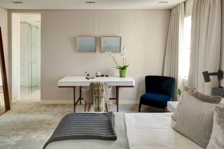 decoracion ambiente dormitorio opciones sillon negro ideas