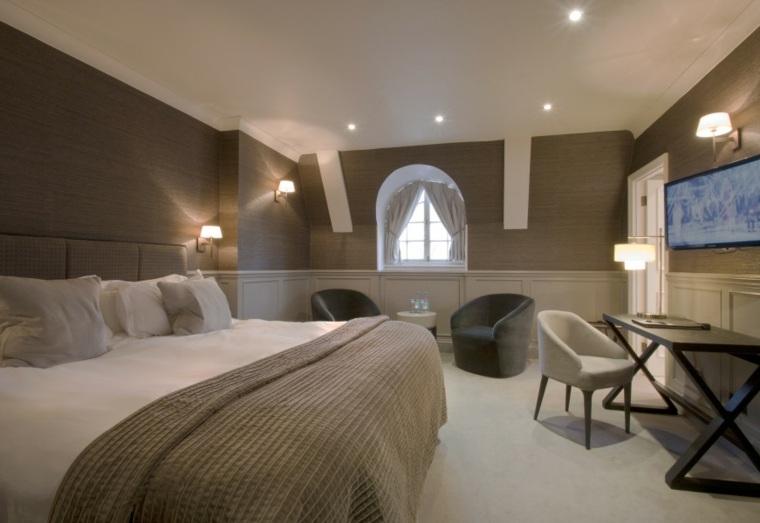 decoracion ambiente dormitorio sillones mesas ideas