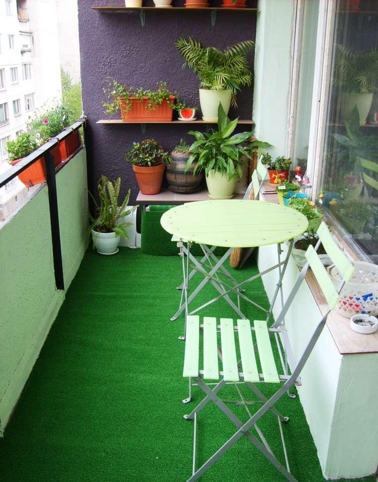 Decoracion balcones ideas originales de muebles for Muebles terraza casa